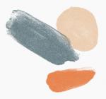 three crossing paint splatters